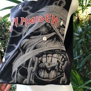 LF Tops - Furst of a Kind Iron Maiden Cut Off Shirt S/M